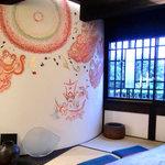 じゃらじゃらcafe  - 桃太郎の壁画