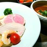 つけ麺一燈 - 海老トマトつけ麺 950円