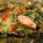 神楽坂友野 - 毛蟹と平貝のサラダ仕立て