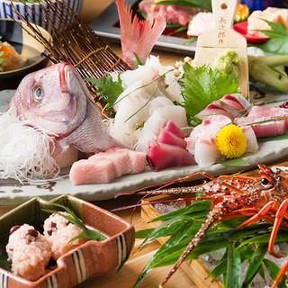 宴会コースは4000円〜。四季折々の旬コースをお愉しみ下さい