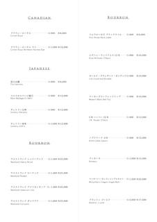 Pine Tree Bless - whisky menu list02