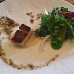 鉄板焼 ボヌール - 鯛鉄板焼 ビター野菜添え
