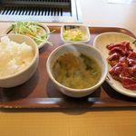 平和園 - 特上ジンギスカン定食(770円)