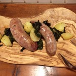 ピッコラトラットリア アニュ - 料理写真:自家製サルシッチャと旬野菜のソテー