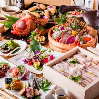 【3時間の飲み放題プラン】人気の地鶏や有機野菜、海鮮が盛々!