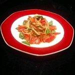 むかしむかし - トマトとバジルの冷製パスタ