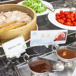 ガーデンカフェ - ◇ランチバイキング◇とってもヘルシーな栗豚のせいろ蒸し&温野菜をご用意!