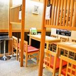 富寿し - 店内(テーブル席)