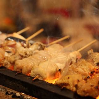 上州地鶏を使った炭火焼き鳥