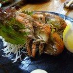 久米 - マジャクのから揚げ・・・シャコの一種ですね。皮が軟らかく、身も甘い。