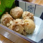 久米 - 里芋そぼろ・・・柔らかく炊いてあるのに、煮崩れていない。熟練の技を感じる品ですよ。
