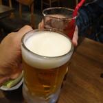 酒場~ルDEN - 生ビー(530円)とウーロン茶(280円)