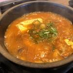カルビ丼とスン豆腐専門店 韓丼  - 和牛すじスン豆腐(2辛)アップ
