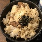 85595150 - 鳥飯×うどんセット(温ぶっかけうどん) ¥750 の鳥飯