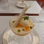 ビストロ ダイア - 生ローリエ香るパンナコッタ、宮崎産メロンのスープ仕立て