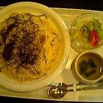 釜乃湯 - あさりと椎茸のスパゲティー 800円