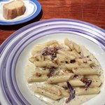 85606259 - ゴルゴンゾーラチーズとトレビスのクリームソースのペンネ(PranzoA