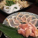 地鶏×鮮魚 個室居酒屋 もみじ庵 - 鶏すき鍋コースー新鮮な鶏もも、むね肉、野菜