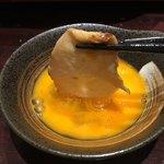 地鶏×鮮魚 個室居酒屋 もみじ庵 - 生卵をつけていただきます!