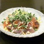 居酒屋 吉屋 - 本日の海鮮サラダ!その日、仕入れたお魚をたっぷりと!
