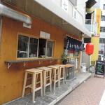 喜七屋 - お店は南口にあります