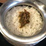 インド料理 マルジョウ - 「フキノトウビリヤニ」1,300円