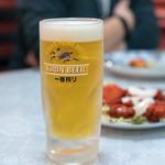 Biryani House - 2018.5 キリン一番搾り生ビール ジョッキ(500円)