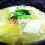 伯楽家常菜 - 蟹お豆腐の土鍋煮込み 1200円