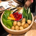 宮崎県日南市 塚田農場 - お通しの野菜 ここから3種類選べます