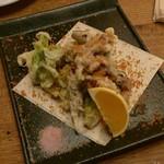 NATURA MARKET - ホタルイカと山菜のフリット