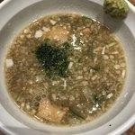 Meigenso - 塩つけ麺  つけ汁  柚子胡椒付き