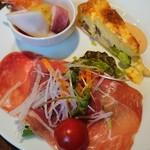 タベルナ グラッソ - グラッソランチの前菜盛り合わせ