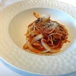 85630561 - 千葉県産旨脂舞豚と新玉ねぎのボロネーゼソーススパゲッティーニ