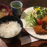 薔薇都 - 料理写真:タイムランチ(串カツセット)650円。安い!
