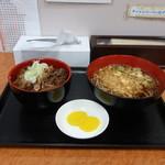 上永谷そば - 料理写真:ミニ牛すじ定食