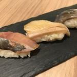 ワイン・寿司・天ぷら 魚が肴 - あいなめ、北寄貝、鯵
