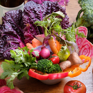全国の新鮮なお野菜大集合!採れたて料理が自慢