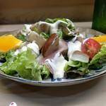 家庭料理 小川 - なす生ハムサラダ