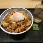 吉野家 - 料理写真:鶏すき丼 大盛り 550円 山椒の小袋付き