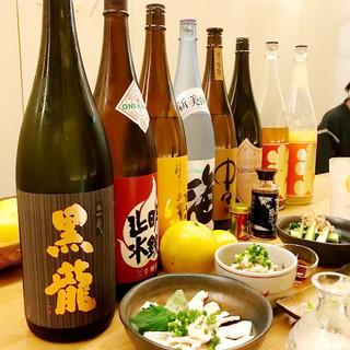 銘酒「黒龍」をはじめ、和の一品にぴったりなお飲み物をご用意