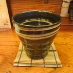 おかめ茶屋 - 黒霧島お湯割り