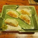 おかめ茶屋 - ひとくち餃子(ハーフ)
