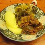 おかめ茶屋 - 十五穀米のごはんの漬物 ※高菜の割合多めでリクエスト