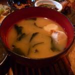 炭焼笑店 陽 - ☆お麩&若布入りのお味噌汁(^_-)-☆☆