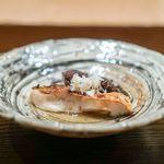 85652809 - 甘鯛の炭火焼き、原木椎茸 出汁酢