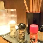 麺魂 革命児 - 薬味
