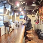 AFURI - 店内のカウンター席の風景です