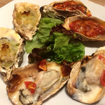 全席個室 ウメ子の家 - 牡蠣の3種オーブン焼き