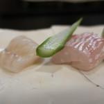京かのこ - 鯛、真子鰈の昆布〆
