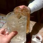 ステーキ酒場 うしマル - 乾杯